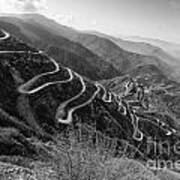 Curvy Roads Silk Trading Route Between China And India Art Print