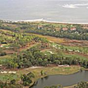 East Coast Aerial Near Jekyll Island Art Print