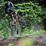 Extreme Biking In Alaska Art Print