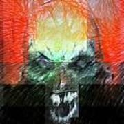 Halloween Mask Art Print