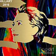 Hillary Clinton Gold Series Art Print by Marvin Blaine