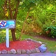 5 Hole Sign On  Golf Course 2 Art Print