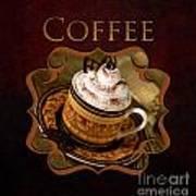 Cappuchino Coffee Gallery Art Print