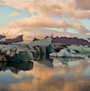Iceberg Formations Broken Art Print