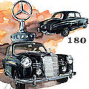 Mercedes 180 Art Print