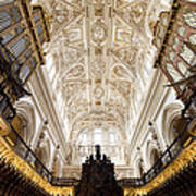Mezquita Cathedral Interior In Cordoba Art Print