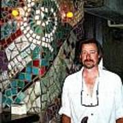 Mosaic Pillar Art Print