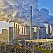 Neurath Power Station Germany Art Print by David Davies