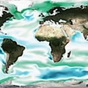Ocean-atmosphere Co2 Exchange Art Print