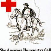 Red Cross Poster, C1917 Art Print