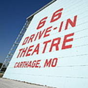 Route 66 Drive-in Theatre Art Print