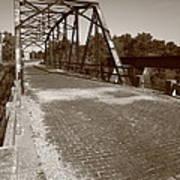 Route 66 - One Lane Bridge Art Print