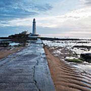 Saint Mary's Lighthouse At Whitley Bay Art Print