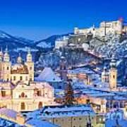 Salzburg In Winter Art Print
