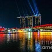 Singapore City Skyline Art Print