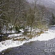 Spring Snow Williams River  Art Print