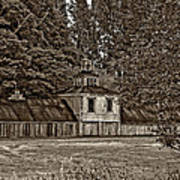 5 Star Barn Monochrome Art Print