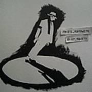 Stencil - Mj Art Print