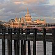 Sunset Over St Pauls Cathedral London Art Print