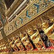 Temple In Grand Palace Bangkok Thailand Art Print