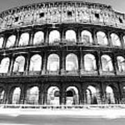 The Majestic Coliseum - Rome Art Print