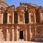 The Monastery At Petra In Jordan Art Print