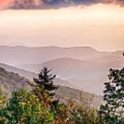 The Simple Layers Of The Smokies At Sunset - Smoky Mountain Nat. Art Print