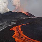 Tolbachik Volcano Erupting Kamchatka Art Print
