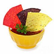 Tortilla Chips And Salsa Art Print