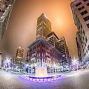 Tulsa City Skyline Around Downtown Streets Art Print