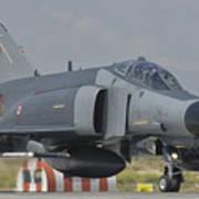 Turkish Air Force F-4 Phantom At Konya Art Print