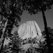 Usa, Wyoming, Hulett, Devil's Tower Art Print