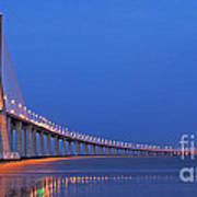 Vasco Da Gama Bridge In Lisbon Art Print