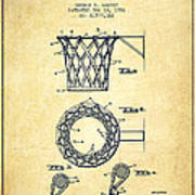 Vintage Basketball Goal Patent From 1951 Art Print by Aged Pixel