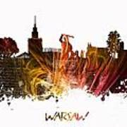 Warsaw City Skyline Art Print