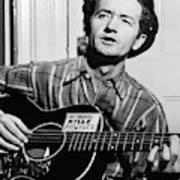 Woody Guthrie (1912-1967) Art Print