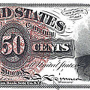50 Cent Lincoln Bill  1863 Art Print