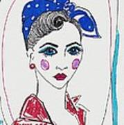 50's Fashion Girl Art Print