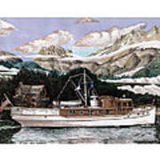North To Alaska On A 53 Foot Classic Yacht  Art Print