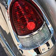 55 Bel Air Tail Light-8184 Art Print