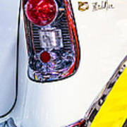 56 Chevy Bel-air Tail Light Art Print