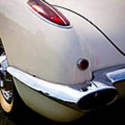 1959 Chevy Corvette Art Print by David Patterson