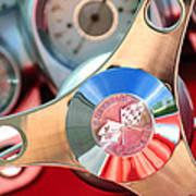 1960 Chevrolet Corvette Steering Wheel Emblem Art Print by Jill Reger