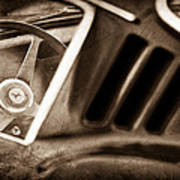 1966 Ferrari 275 Gtb Steering Wheel Emblem Art Print