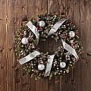 Advent Christmas Wreath Decoration Art Print