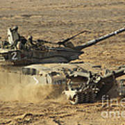 An Israel Defense Force Merkava Mark II Art Print