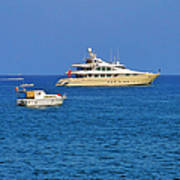 Antibes - Superyachts Of Billionaires Art Print by Christine Till