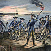 Battle Of Long Island, 1776 Art Print