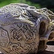 Celtic Skulls Symbolic Pathway To The Other World Art Print