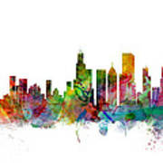 Chicago Illinois Skyline Art Print